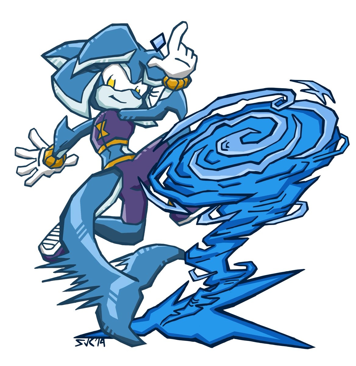 Pretty excited to show this off now that the store is public.  So here's a Sonic Battle-style Tempest. I like to think this attack is simply called the Tempest Twister.  @sonic_legacy #tempestthedolphin #notashark @TeePublic