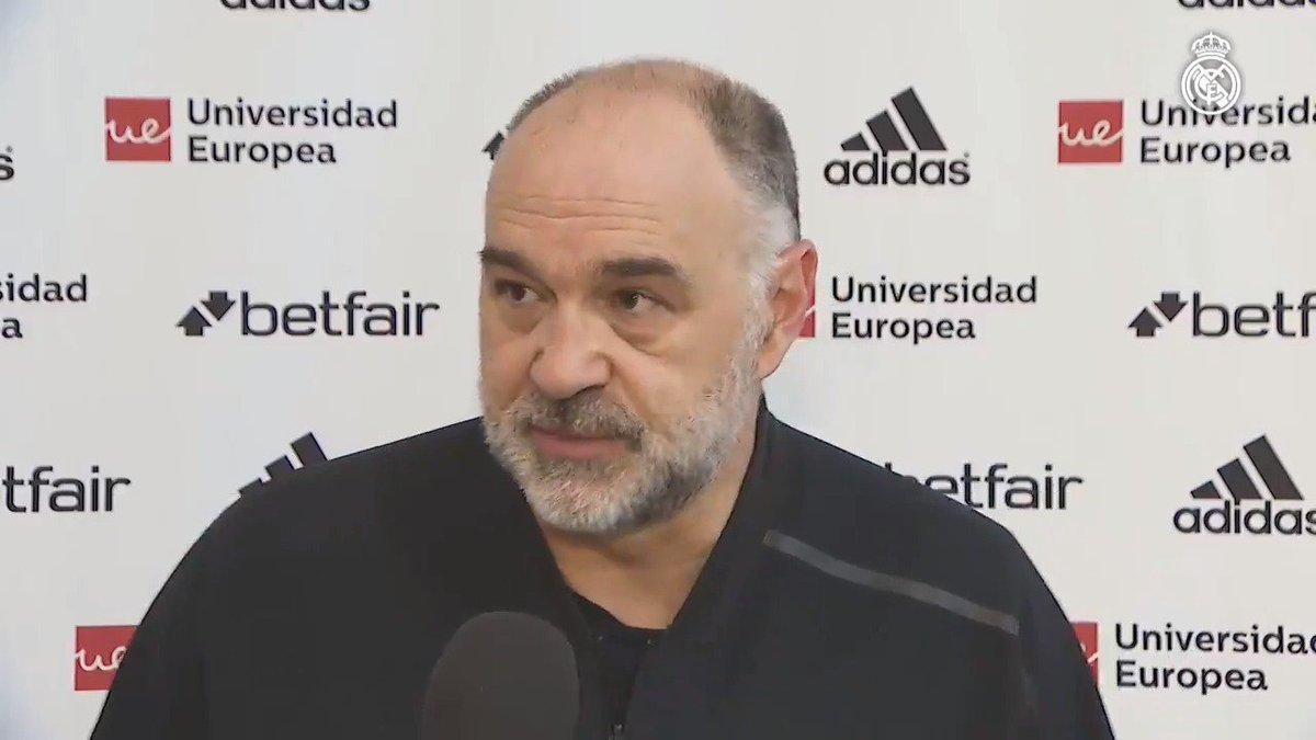 💬 @pablolaso y @facucampazzo han hablado del Clásico ante los medios. Así analizan el partido el entrenador y el base. #HalaMadrid   @RMBaloncesto
