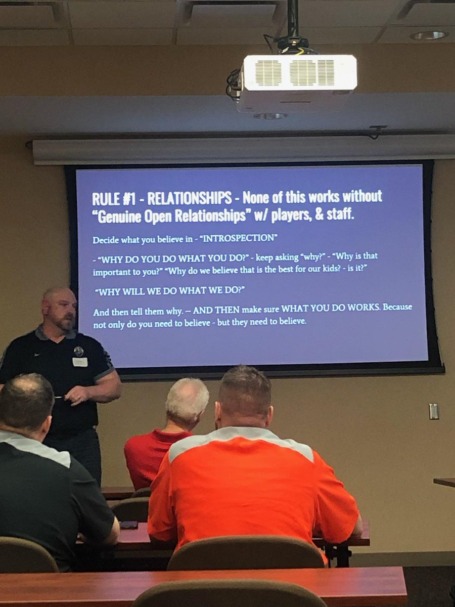 Boone FB at Northeast Nebraska Coaches Clinic today - hosted by @FaithRegional - Good day of talking ball - thanks for the opportunity. #BytheCode #GoCards #mentaltoughness #coachkleinsays