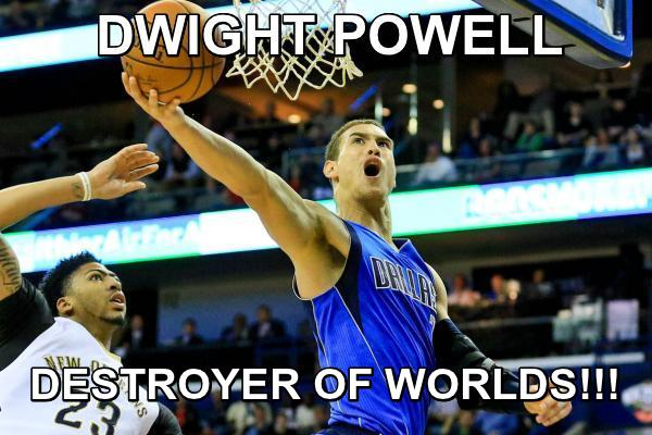 YEAH TRY TO STEAL IF FROM POWELL YOU GET THE HORNS!!! #mavs #mffl