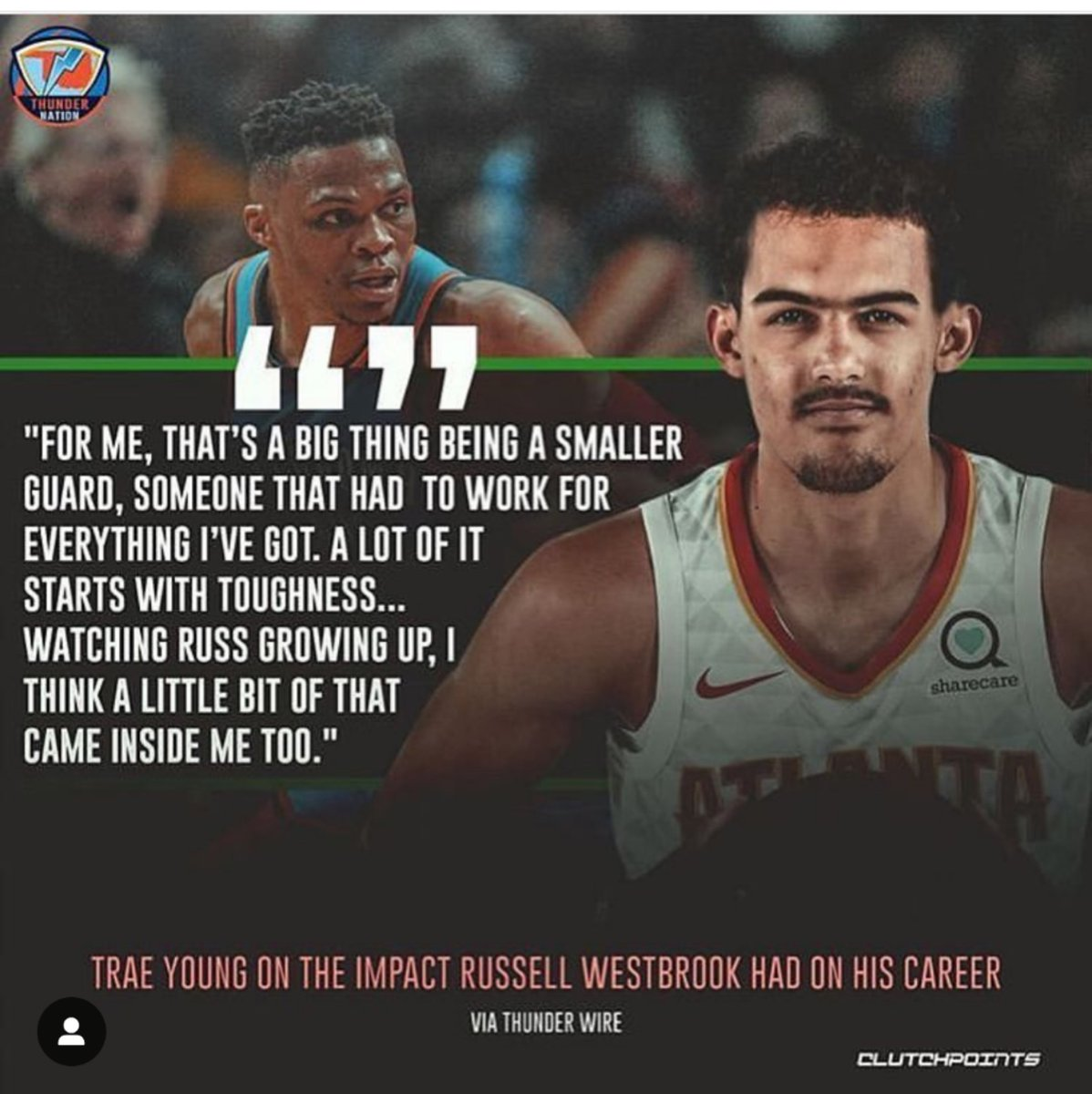 What do you know, another person who is influenced by Russ. Add Trae to the list.