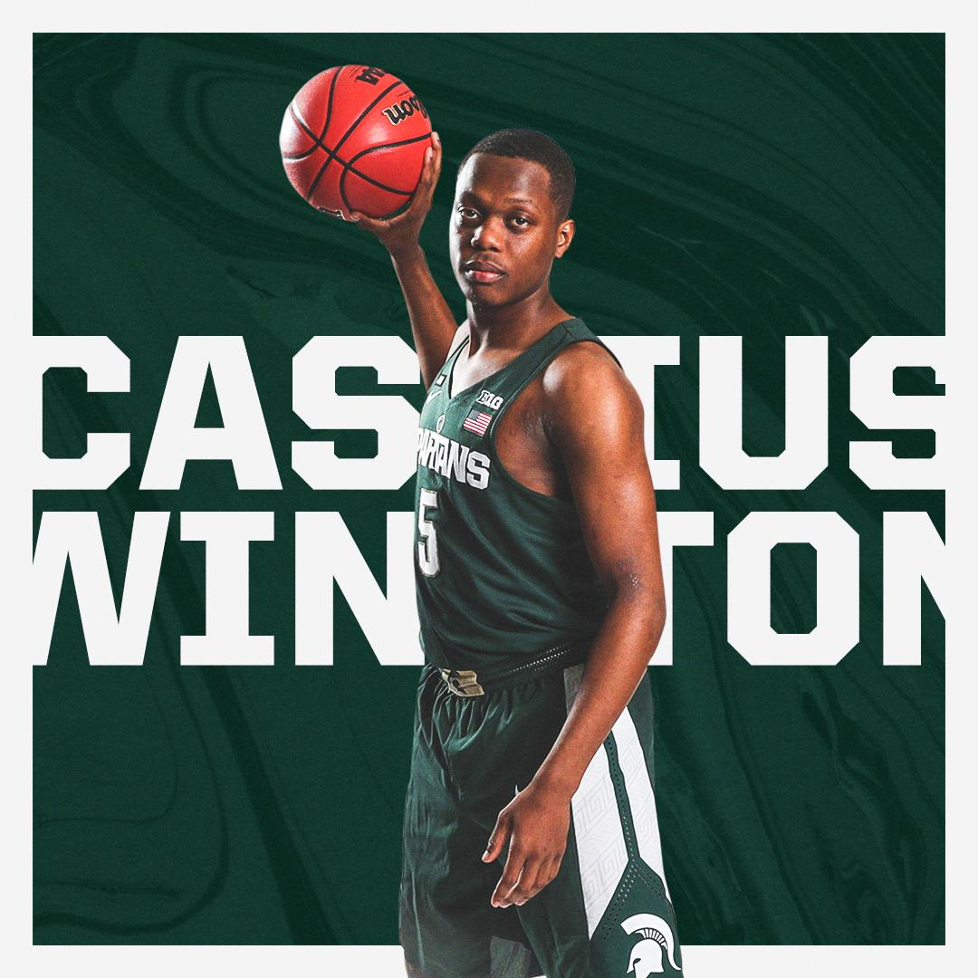 Cassius Winston leads @MSU_Basketball to the Sweet 16 for the first time since 2015!