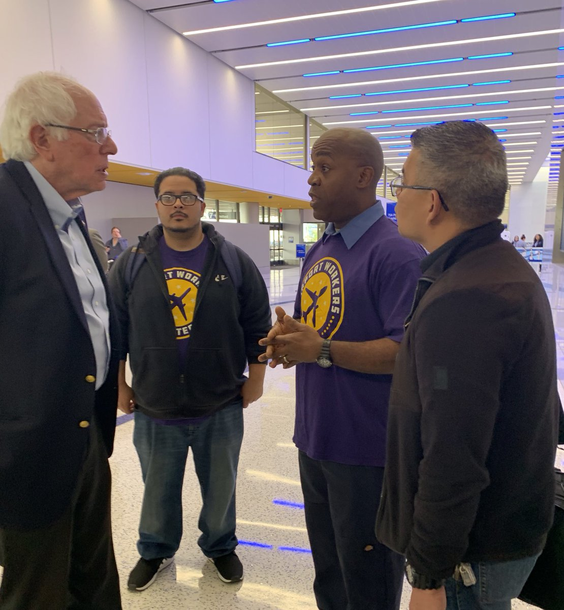 Airlines like Southwest and American are switching passenger service work at LAX away from union contractors. Not acceptable. If we're going to rebuild the middle class in America we must support the trade union movement. I stand with LAX workers.