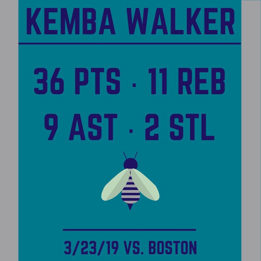 Kemba Walker harkened back to his epic March Madness days to help subdue the visiting Celtics tonight. #nba #nbahistory #nbabasketball #nbahighlights #nbanews #charlottenc #northcarolina #kembawalker #charlottehornets   Source Data: ESPN.