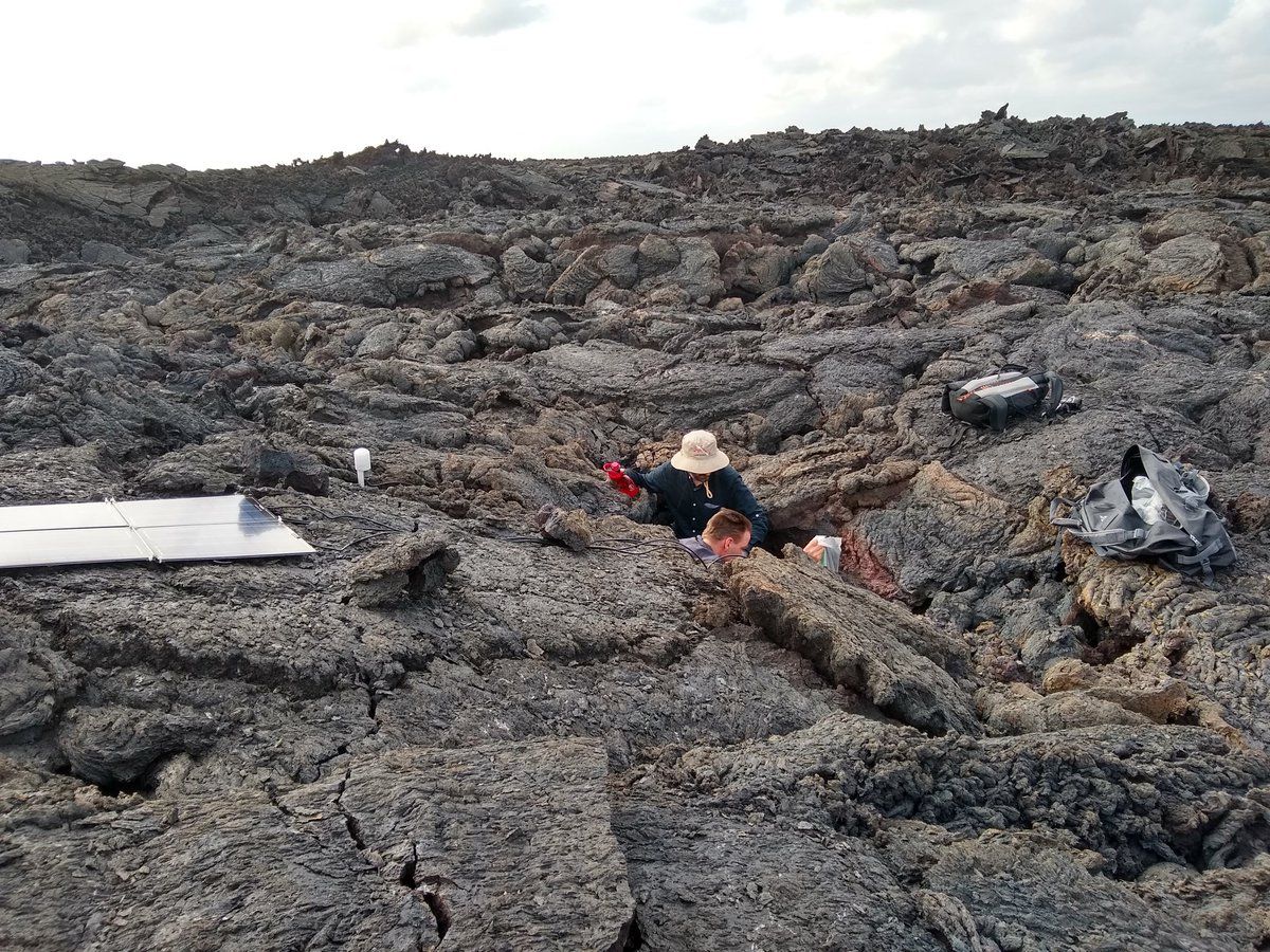 test Twitter Media - RT @AndyFBell: @dias_geophysics hard at work in a lava flow https://t.co/DXHcEJz6SM