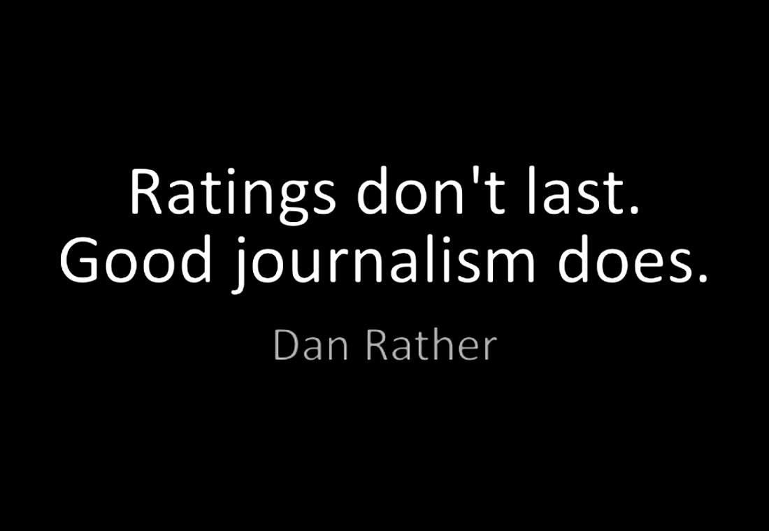 Answer to your first (presumably rhetorical) question: because most American national TV corporations still don't follow @DanRather's advice below. That's why.  #NewsworthinessBeforeRatings #GoodJournalismMatters