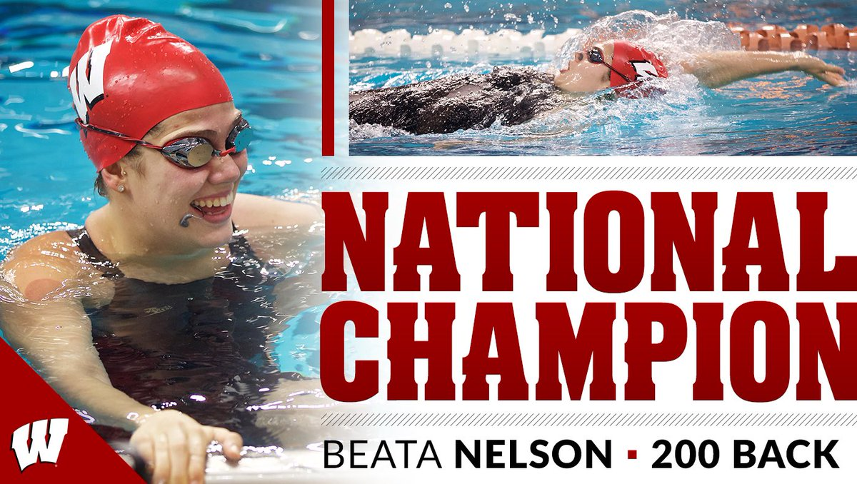 B3ATA N3LSON   National champion in the 200 backstroke with a time of 1:47.24, a new NCAA record!   #OnWisconsin <br>http://pic.twitter.com/3pI9kdapiK