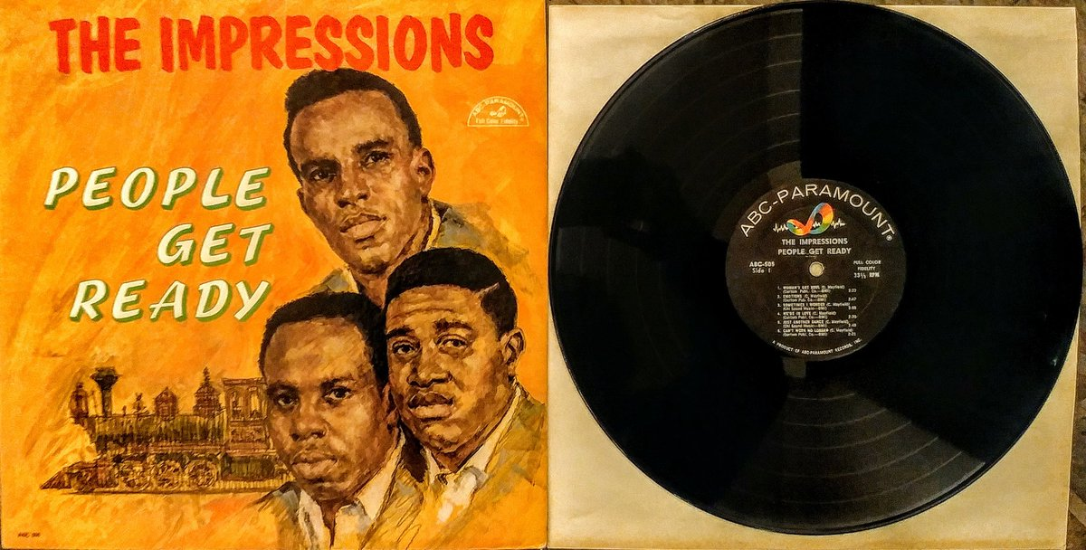 From 1965 the mono version of #TheImpressions &quot;People Get Ready&quot; album.  All songs written by the great #CurtisMayfield A soul LP so worth having. @SoulLegends @JazzNBluesMusic<br>http://pic.twitter.com/qDbL6uMiMS