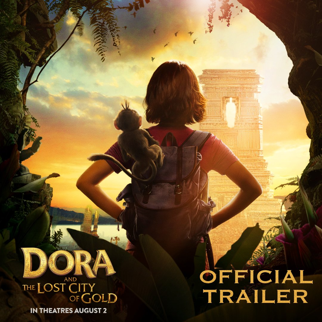 Get ready to unleash your wild side.🐒 Watch the official trailer for Dora and the Lost City of Gold, starring @IsabelaMoner, @EugenioDerbez, @RealMichaelPena, @EvaLongoria, and @OfficialDannyT. #DoraMovie swings into theatres August 2!