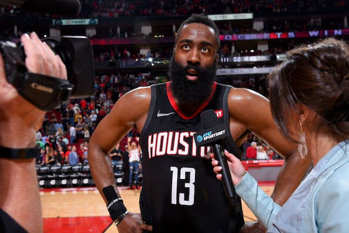 James Harden on sitting out over load management: 'What is that? I'm a hooper' https://trib.al/xtA3Vqw