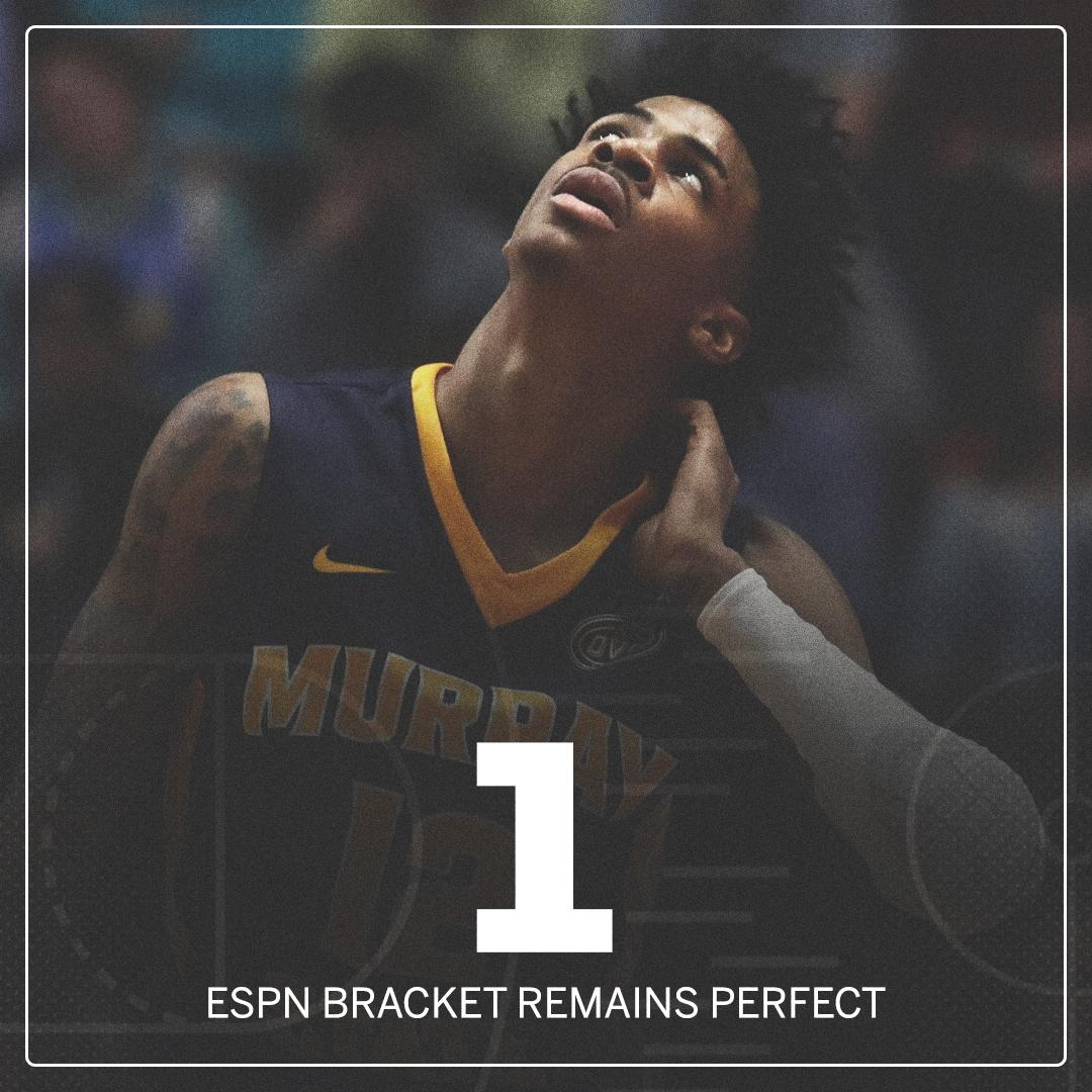 After 4-seed @FSUHoops' win, only 1 out of 17.2 million ESPN brackets remains perfect through 36 games �� https://t.co/Xu9zccjGee
