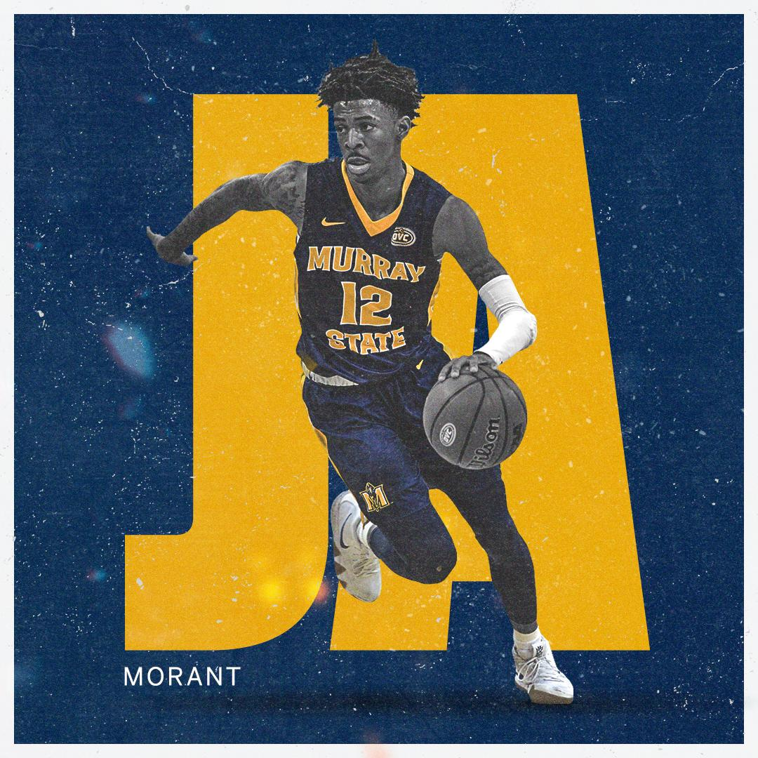 ✔️1st player with 20 PPG and 10 APG in a season (since assists became a stat in 1983-84) ✔️@RacersHoops all-time assists leader ✔️Created 63% of team's points in 2019 NCAA Tournament  It's been a heck of a ride for Ja Morant 👏