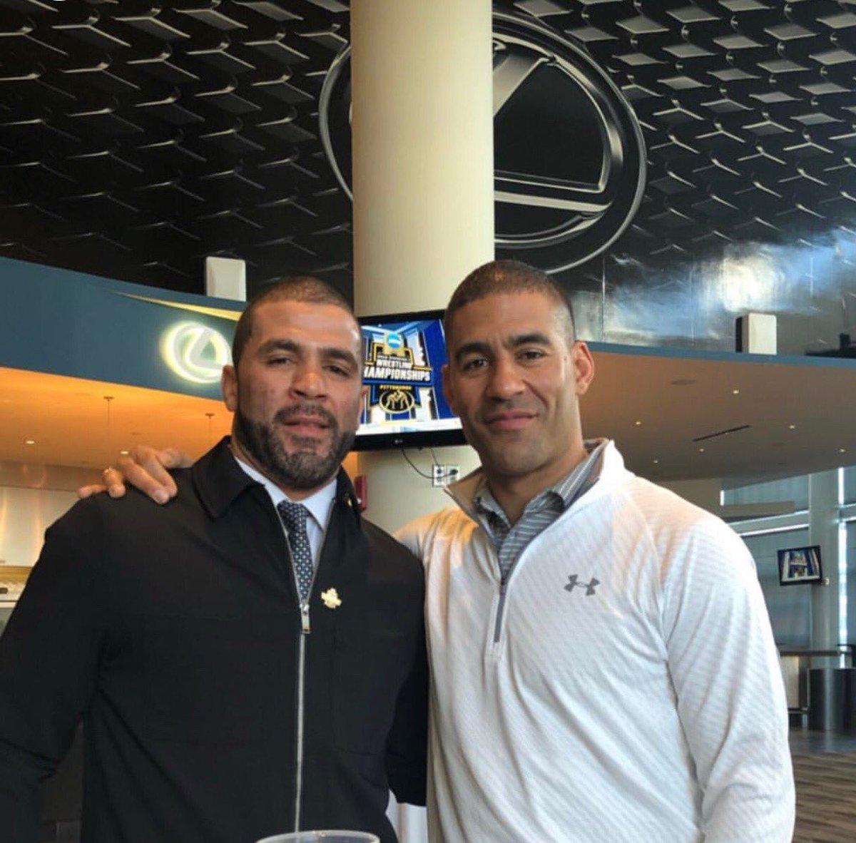 Good to see the champ back in town! @CoachGJones @ncaawrestling @WVUWrestling #jonesbrothers #slickvillepa