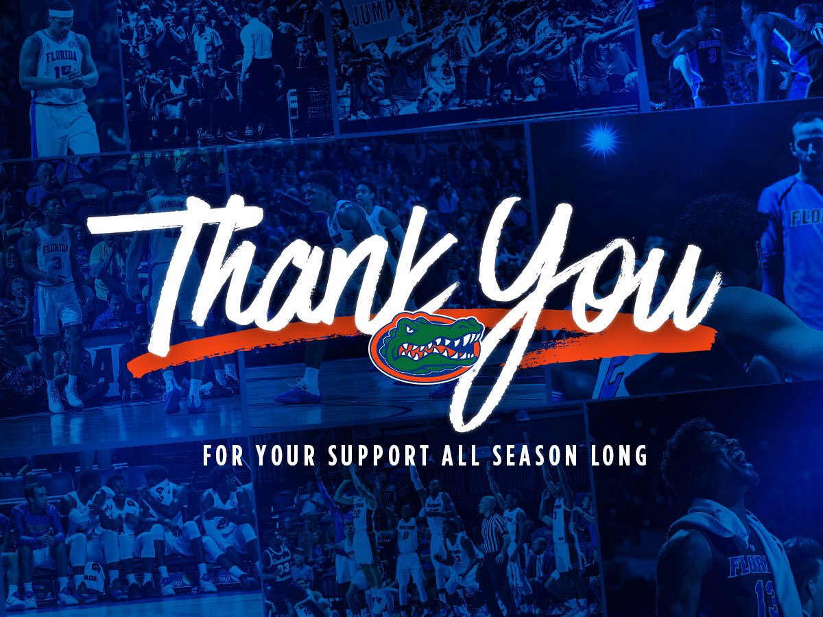 Through the ups & downs, thank you for sticking with us #Gators.  #MarchMadness #GatorsHoop