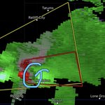 Image for the Tweet beginning: TORNADO WARNING for supercell with