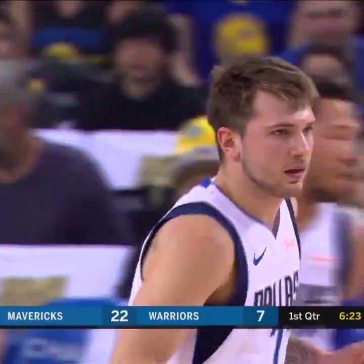 Luka is FEELING IT.  Three stepbacks in the first quarter.