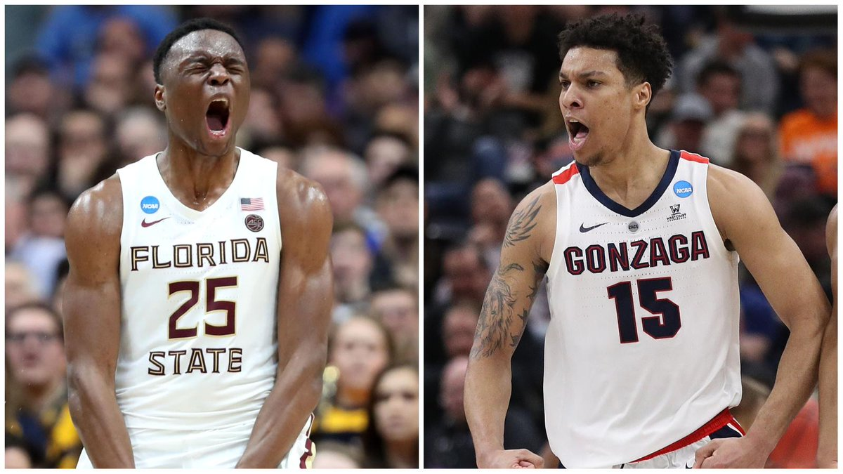 We're in for a Florida State-Gonzaga matchup in the Sweet 16 for the second straight year.  The Seminoles upset the Bulldogs in last year's game, 75-60.