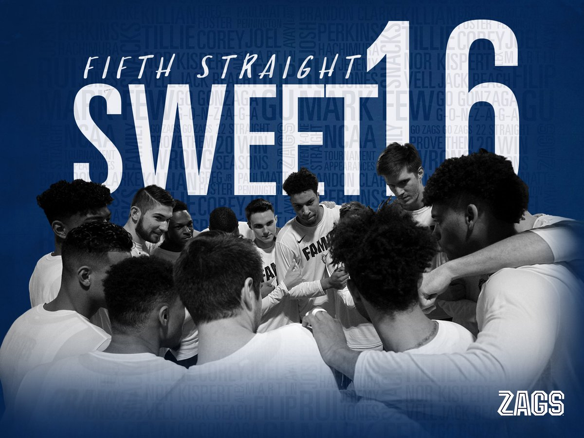 Oh it is sweet. Five straight sweet.  #Sweet16 x #UnitedWeZag