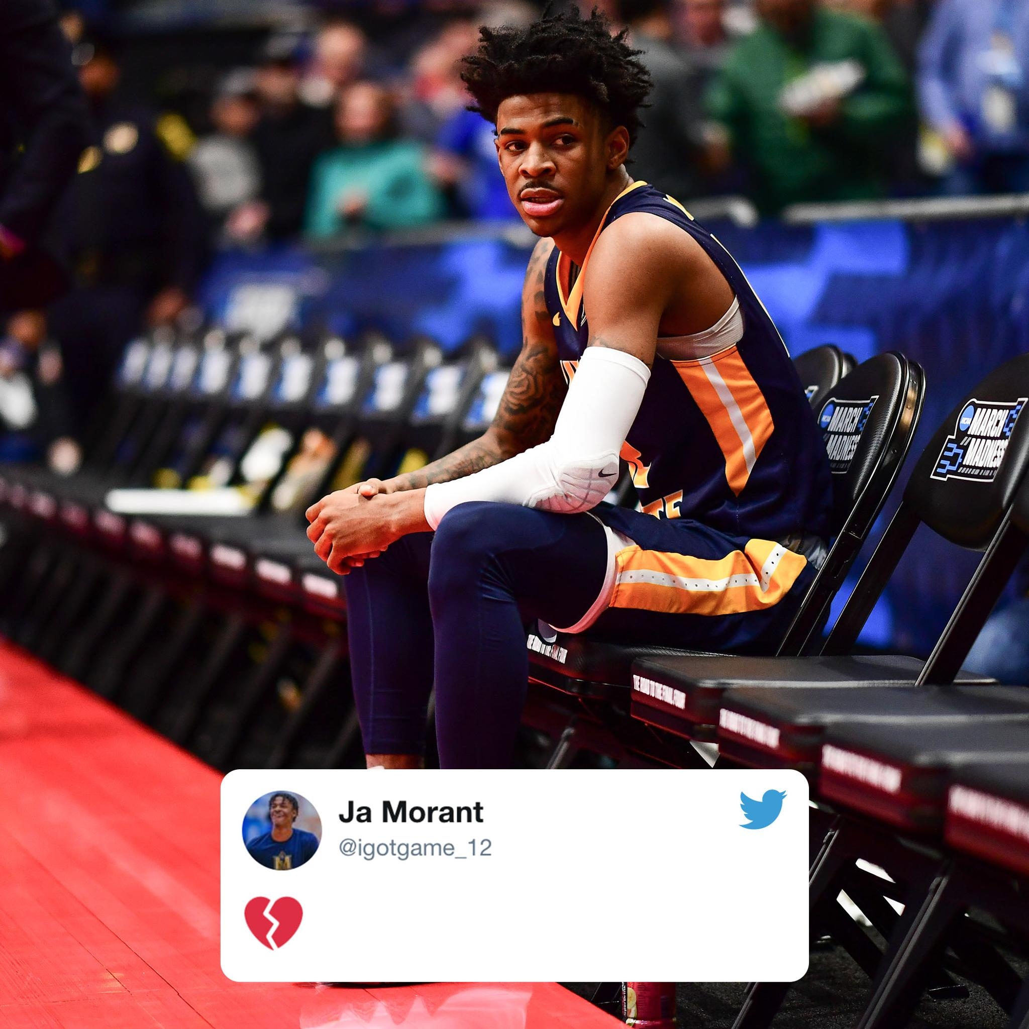 Tough ending for Ja Morant and Murray State. https://t.co/A4W4i1Qebh