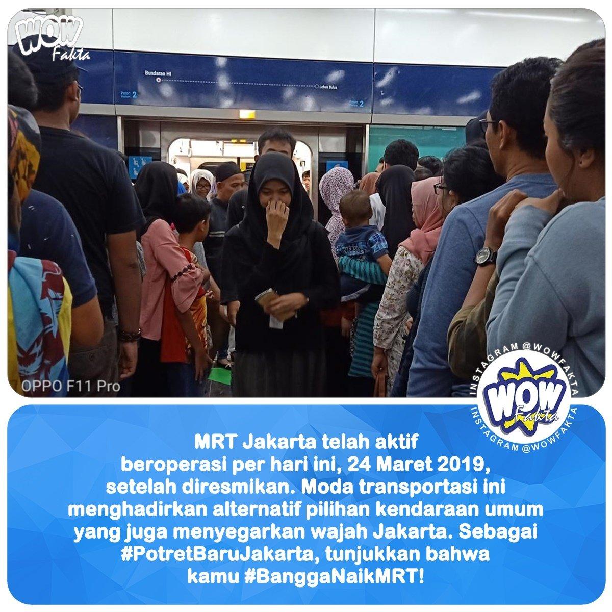 MRT Jakarta telah aktif beroperasi per hari ini, 24 Maret 2019, setelah diresmikan. Moda transportasi ini menghadirkan alternatif pilihan kendaraan umum yang juga menyegarkan wajah Jakarta. . Warga Jakarta, ayo tunjukkan... . . IG: @OPPOIndonesia . . https://www.instagram.com/p/BvYXaC4gXg5/ . .