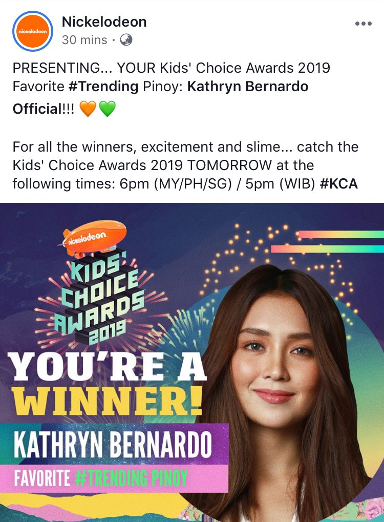 CONGRATULATIONS, TO OUR DEAREST QUEEN! @bernardokath  An early birthday gift for her. We did it fam!   Thank you @Nickelodeon     #KathrynKCAFaveTrendingPinoy<br>http://pic.twitter.com/pabrNumi1l