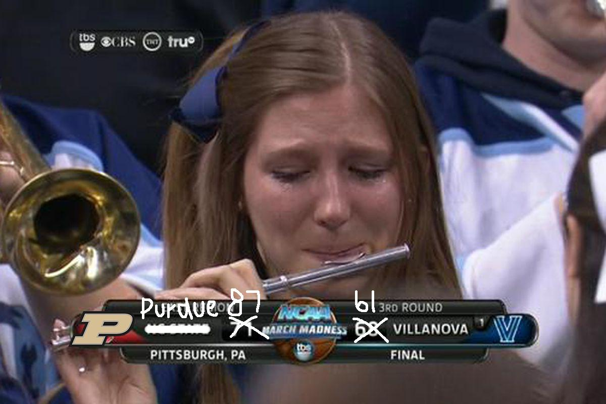 Villanova has been eliminated.  (This is not photoshopped.)