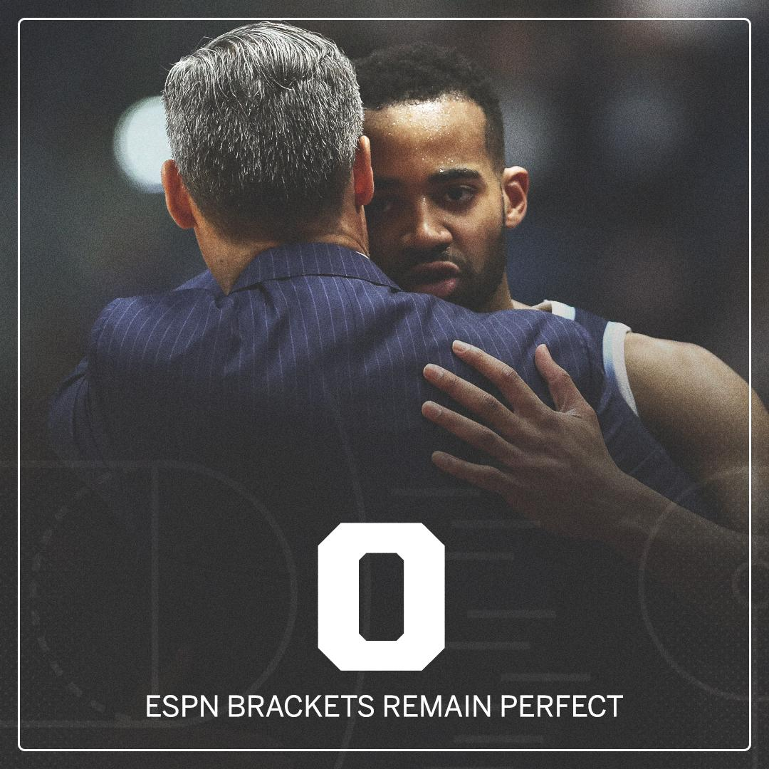 NO. MORE. PERFECT. BRACKETS.   After 39 games and 17.2 million entries, there are zero remaining perfect brackets. https://t.co/f3dYFnqSpB