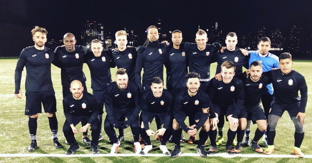 Ole firsts defeat CD Iberia 5-1 on a crisp night at Randall's Island!!! Huge win!!!! Goal scorers: Cortez (2), Moseley, @coachkjd_ , and @NvonEgypt 🔥🔥🔥 @CosmoLeague