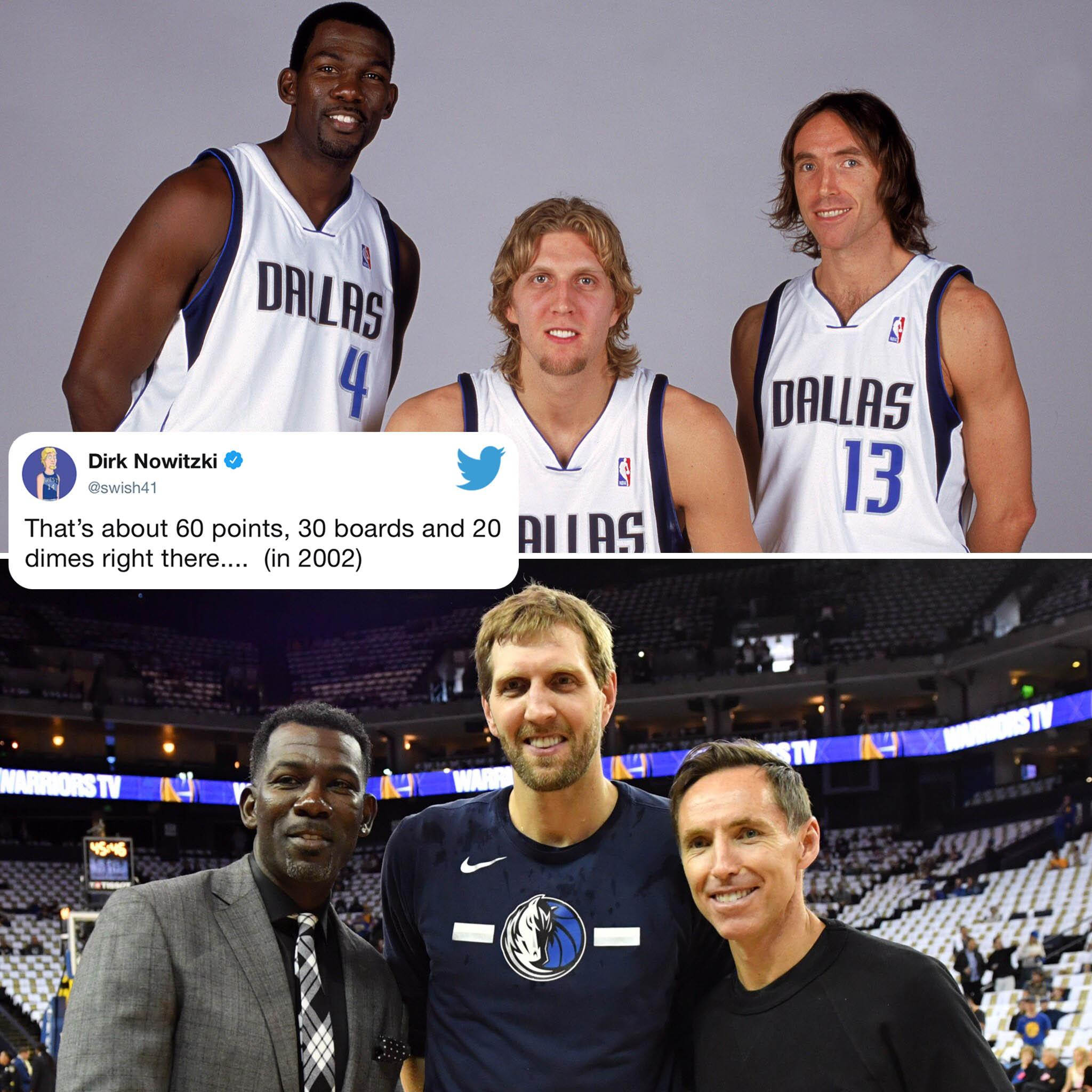 Dirk knows this trio could dominate … 17 years ago �� (via @swish41) https://t.co/FBDeCjvhGg