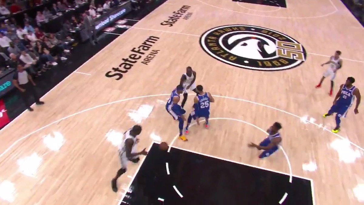 .@taureanprince with the sneaky dime for the @d_dedmon3 finish  Last night's @SharecareInc Share of the Game