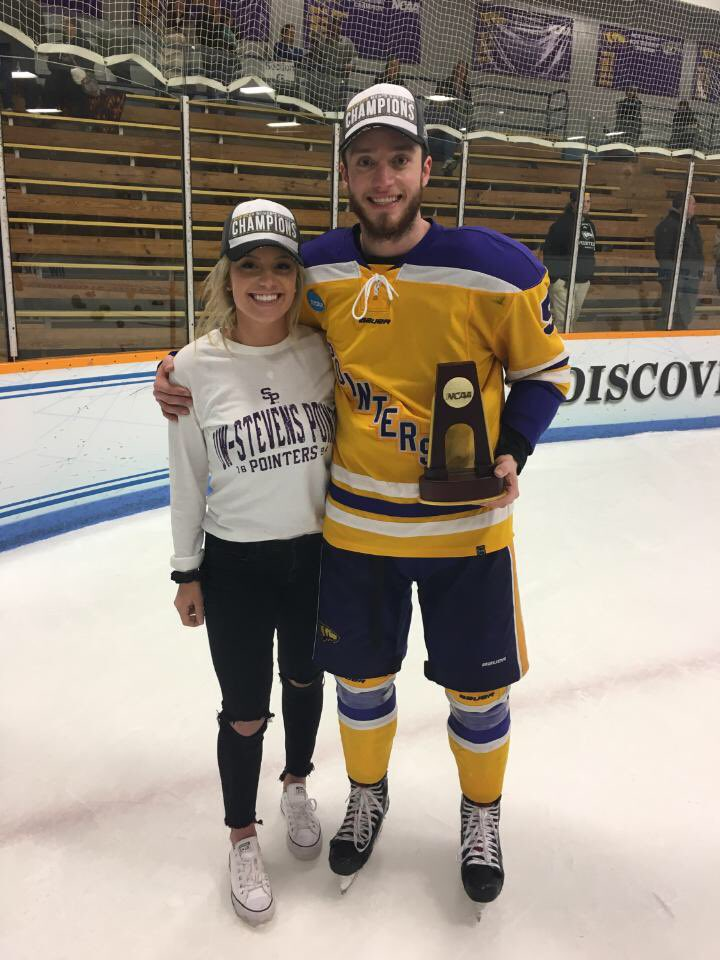WHKY | Hockey family dynasty! Congratulations to Danny Kiraly—brother of @CardinalsWHKY All-American Hannah Kiraly—on helping @UWSPAthletics win a men's hockey national title. Both Kiraly siblings were named to their respective championships' All-Tournament Teams.