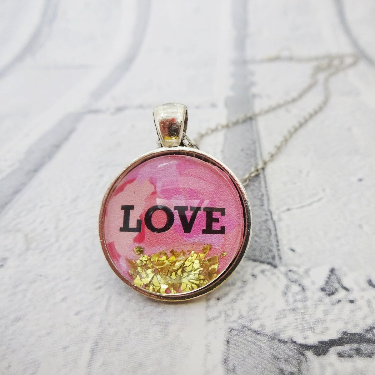 Love quote necklace,Romantic quote pendant,Glass pendant,Romantic gift for her,Love pendant,Love necklace,Valentines,Wedding jewelry,Pink http://tuppu.net/878ba952  #TMTinsta #EtsyTeamUnity #Valentines