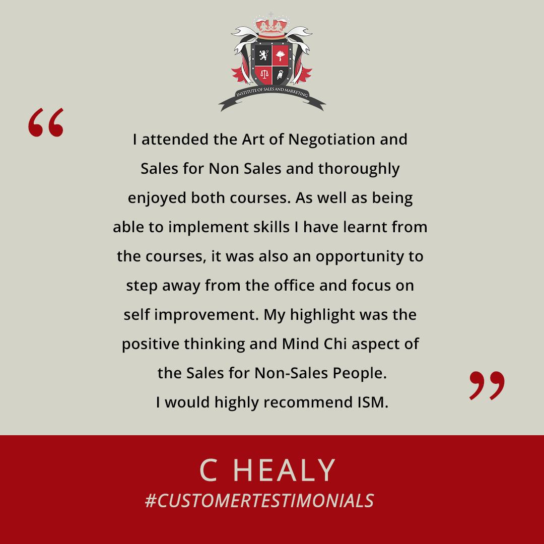 We are proud to say that our courses can provide personal development skills that you can implement when when you return to the office. Thank you Ms. Healy for your wonderful testimonial. http://bit.ly/2ABxP3N #customertestimonial #ISMtraining #development #selfimprovement