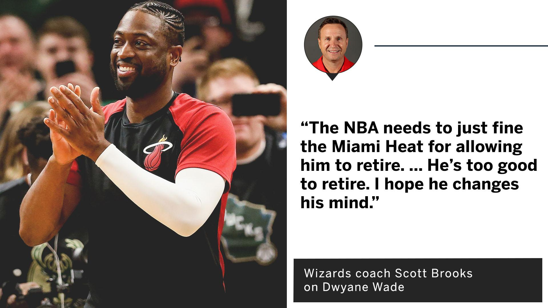 It'll be tough to see @DwyaneWade leave the game �� #OneLastDance https://t.co/jZYBD9ISTr