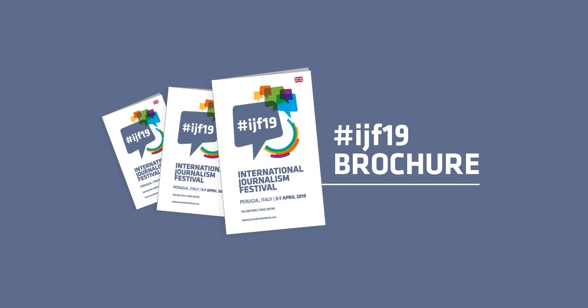Read, download and share the #ijf19 brochure of International Journalism Festival - https://t.co/Y3tkKVBv1W