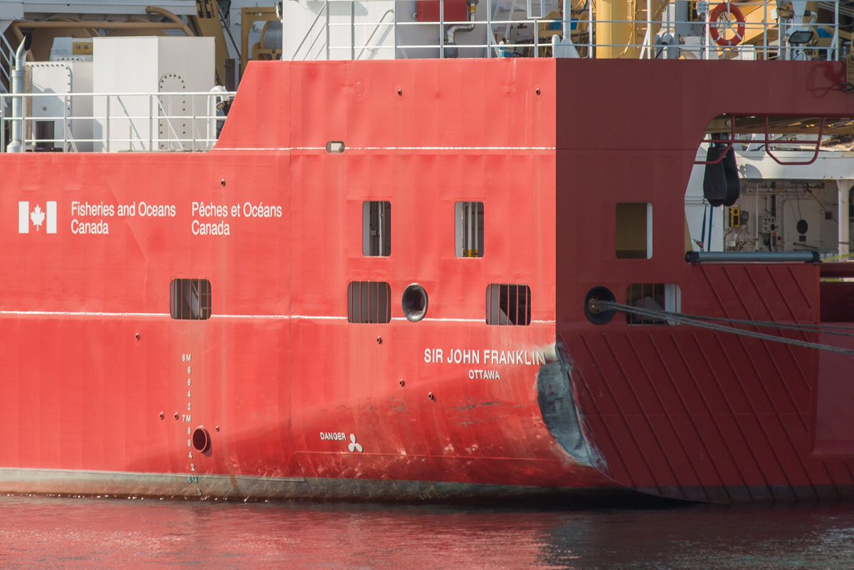 Keri Coles On Twitter The Brand New Canadian Coast Guard Vessel Sir John Franklin Crashed Into Victoria S Breakwater Friday It Is The First Offshore Fisheries Science Vessel Designed And Built In Canada