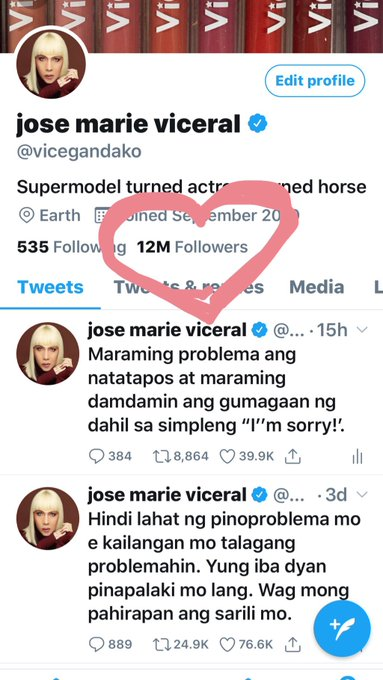 woooooooowww! Kavogue!!!! 12 Million Twitter Followers!!! Ibuuuuhhhhh! Budol is real! chozzzz!!! Seriously MARAMING SALAMAT PO for making me the most followed Filipino on twitter. Hayabayabayu!
