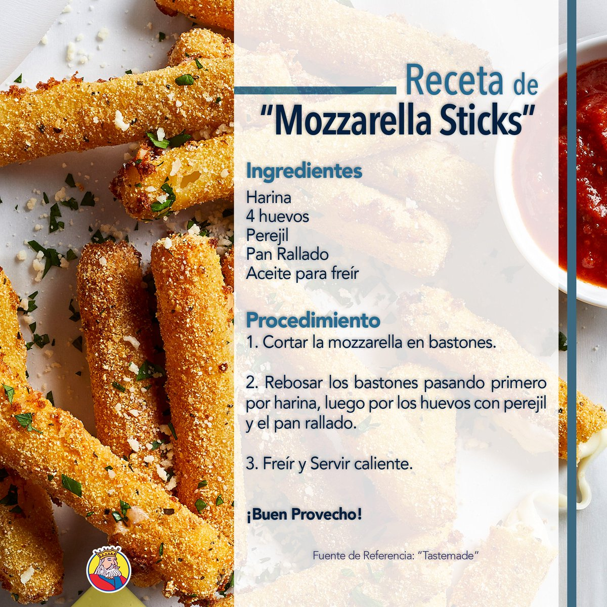Receta De Mozzarella Sticks
