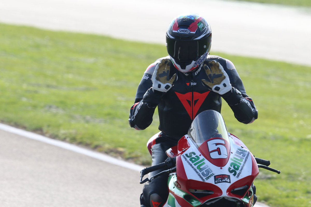 Not long now until round 1! Few weeks and we are back in business in the @DucatiCup @OfficialBSB I'm looking forward to this year more than any other on the @BoastDucati @Salusai_HQ #5 959. Testing has gone well, new team is great,  excited for Rd1 :) @SilverstoneUK #BSB2019 #5 <br>http://pic.twitter.com/4e0Btgk0y6