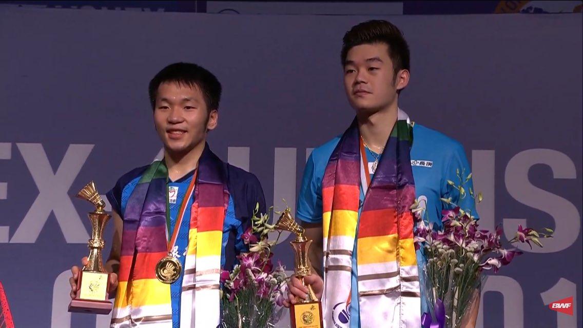 Pasangan ganda campuran China Taipei, Lee Yang/Wang Chi-Lin menjuarai India Open 2019 setelah mengalahkan ganda putra Indonesia Ricky Karandasuwardi/Angga Pratama, Minggu (31/3/2019).