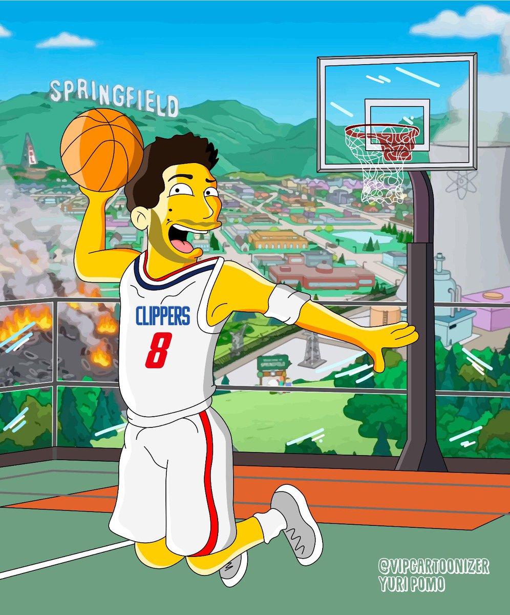 Da Hollywood a Springfield è un attimo, sempre con la palla da basket in mano! 😄🏀