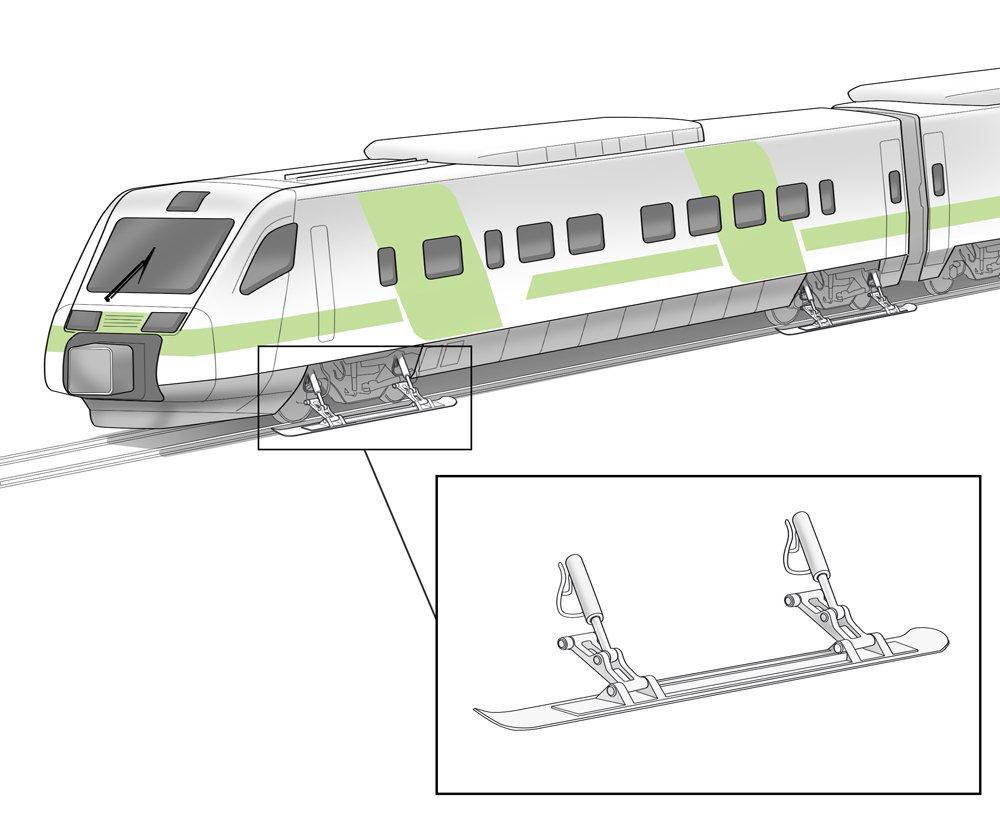 Parantaaksemme täsmällisyyttä aloitamme ensi talvena kokeilun, jossa osaan junista asennetaan jalakset. Ympäristöystävällisten jalasten liukuteho hyödyntää junan pieniä vierintävastuksia ja ne lasketaan käyttöön pahimmilla talvikeleillä. Suunnittelutyö on käynnissä varikollamme.