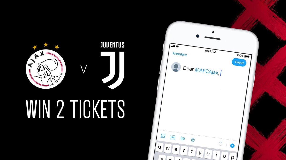 Waar denk jij aan bij het @AFCAjax-account? Laat het in een reactie weten en win 2 #UCL-tickets!   📲 Meld je aan via http://Ajax.ms/ajajuve ✍️ Dear @AFCAjax,   _______ ____________ ________  #Ajax1M