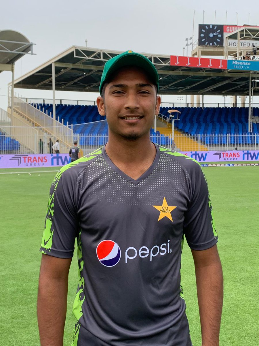 Many congratulations to #SayaCorporation speedster @MHasnainPak on his debut for Pakistan today. Enjoy this historic day champ. Way to go!Do you know legend @waqyounis99 also did his ODI debut at Sharjah?Pics: PCB