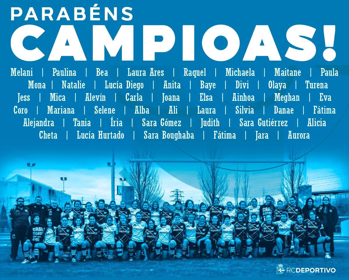 El Crat Se Proclama Campeón De La Liga Iberdrola De Rugby