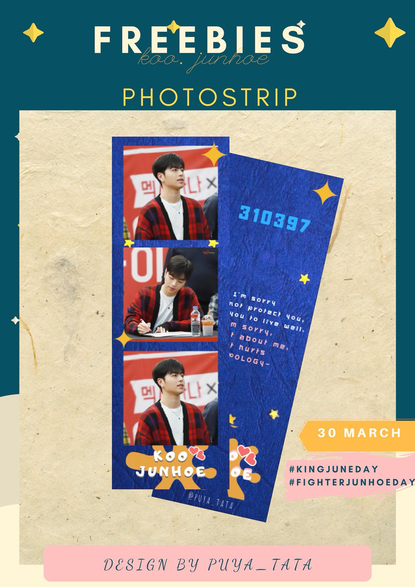 Hi, I will giving out KOO JUNHOE FREEBIES for you guys at #KingJuneDay and #FighterJunhoeDay on 30 March ~ Saturday  FOLLOW ME, RT &amp; Like Just say HI to me dday **Show me the receipt  1 drink / 1 PS   time : tba strictly NO RESELLING <br>http://pic.twitter.com/LzWz1gcYGw