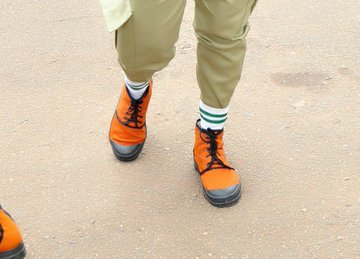 """Alexander Otutu on Twitter: """"When our pair of NYSC jungle boots goes  international. Selling for about #47,300 (£100💷). Put some respek😁 on  it's name.… https://t.co/sXWjRjsg5w"""""""