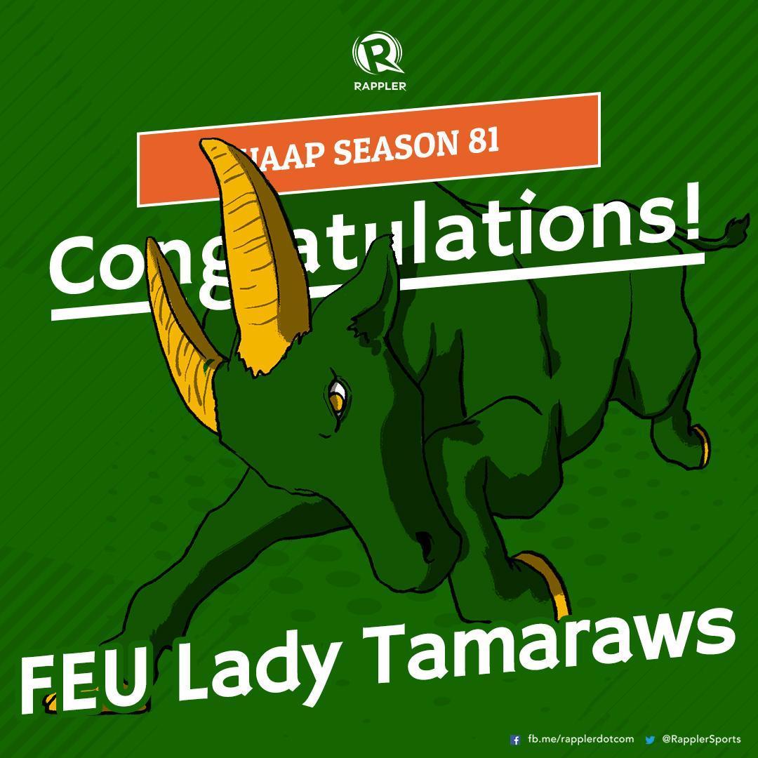 BREAKING NEWS. FEU Lady Tamaraws win over Adamson Lady Falcons in 5 sets, 30-32, 25-20, 23-25, 25-20, 15-13!   http:// rappler.com/uaap  &nbsp;   #UAAPSeason81Volleyball #UAAPSeason81<br>http://pic.twitter.com/4pjHUSu0vL