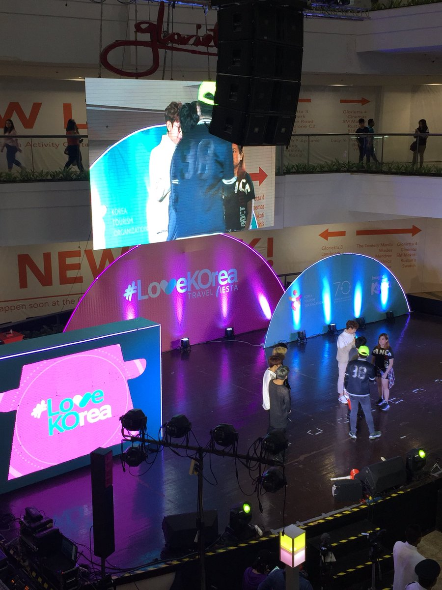 RT @SB19Official: Right now: SB19 playing games at #LoveKOrea Travel Fiesta at Glorietta Activity Center.  🇰🇷 https://t.co/zBcVDgF75w