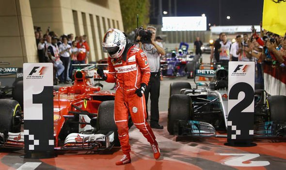 Week to go till lights out for the #BahrainGP !     Last year Sebastian Vettel won the race at @BAH_Int_Circuit    #F1 #Seb5 #ForzaSeb<br>http://pic.twitter.com/2PYJpCw9o5